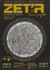 L'artiste ZEITER à Montrouge le 1er avril